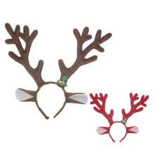 Christmas Ornaments Antlers Hair Band for Christmas Decoration pp Cotton Christmas Party Supplier Red Coffee Decorations(China)