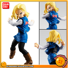 "Japan Anime ""Dragon Ball Z"" Original BANDAI Tamashii Nations STYLING Vol.5 PVC Toy Figure - Android #18"