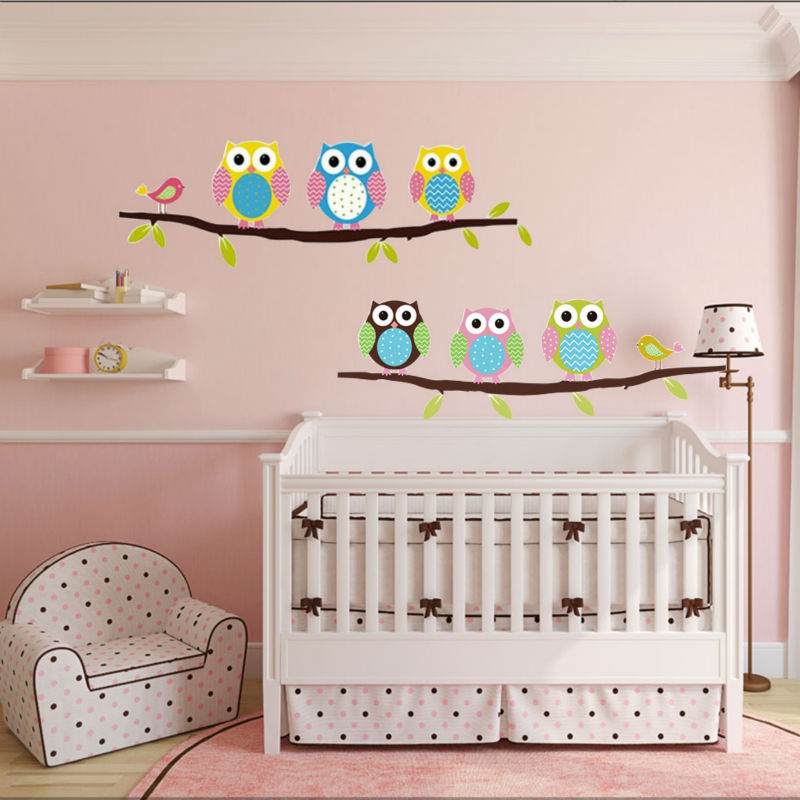 Owl Wall Stickers For Kids Rooms A16 (2)
