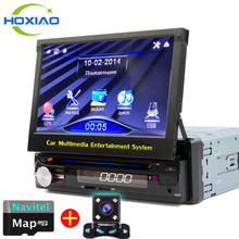 NEW 1 Din Car DVD GPS Navigation player to Old car models Radio Music Bluetooth Rear View Camera SD USB For Auto radio 1din gps