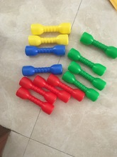 Random color selling Children plastic dumbell sport game fitness dancing tool indoor training(China)