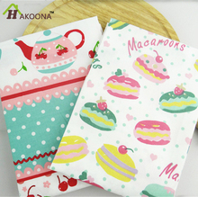 HAKOONA Cherry Macaron Printed Cotton Table Napkins Kitchen Restaurant Mats Take Pictures Background Pastoral Magic Pads 38*58cm