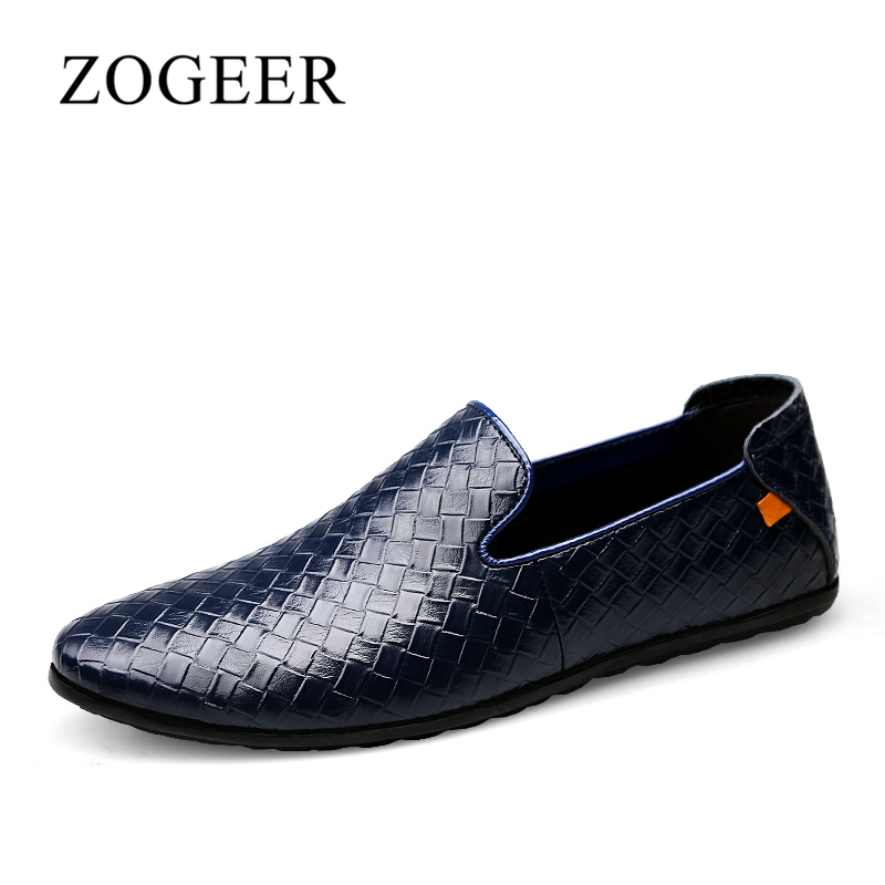 ZOGEER 2018 Brand Men Shoes, Casual Soft Leather Mens Loafers, Size 37-45 New Fashion Man Slip On Shoes Driving Shoes<br>