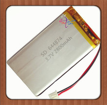 XHR-2P 2.54 3.7V 2800mAh 644874 polymer battery Rechargeable batteries(China)
