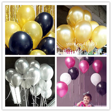 20pcs / lot  Metallic  ballons Pearl Balloons wedding balloon Birthday globes  pink blue black gold silver ballons  10inch 2.2g