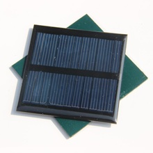 Wholesale 0.6W 5.5V 90mA Mini polycrystalline solar Panel 0.5watt 5V small resin solar cell solar module 50pcs/lot Free Shipping