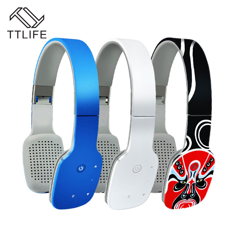 TTLIFE GB-03W Super Thin Bluetooth Headset Wireless CSR4.1 Sport Earphone Touch Panel Foldable Headphone with Mic for Phones PC<br>