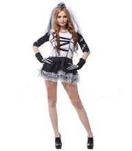 Free shipping!!Costume party, HALLOWEEN, the carnival party dress, sexy death bridal costume