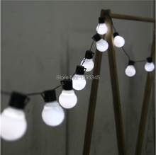 Novelty 5CM big size 38 ball 10M LED String Black wire LED Starry Lights Christmas Wedding indoor outdoor Decor String Lighting(China)