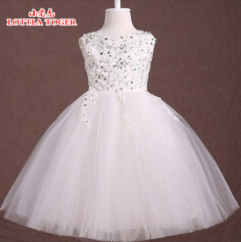 Summer Dress For Girls 2017 Princess Baby Nail Diamond Lace Wedding Party Dresses Girls Clothes 2-12 Years Bridesmaid Kids Costu<br>