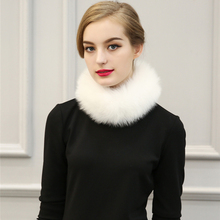Women Winter Scarf Autumn Fur Collar Black Faux Fur Christmas Gifts Yellow Warm Fashion Accessories Faux Fox Fur White Scarfs