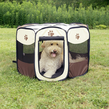 Pet Bed Pet Play Pen Puppy Rabbit Cage Folding Run Dog Fence Garden Crate Pet Kennel Outdoor Indoor