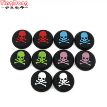 2pcs Skull Thumb Stick Grips Cap Gamepad Joystick Cover Case Sony PlayStation 3 4 PS3 PS4 Xbox One 360 Controller ThumbStick