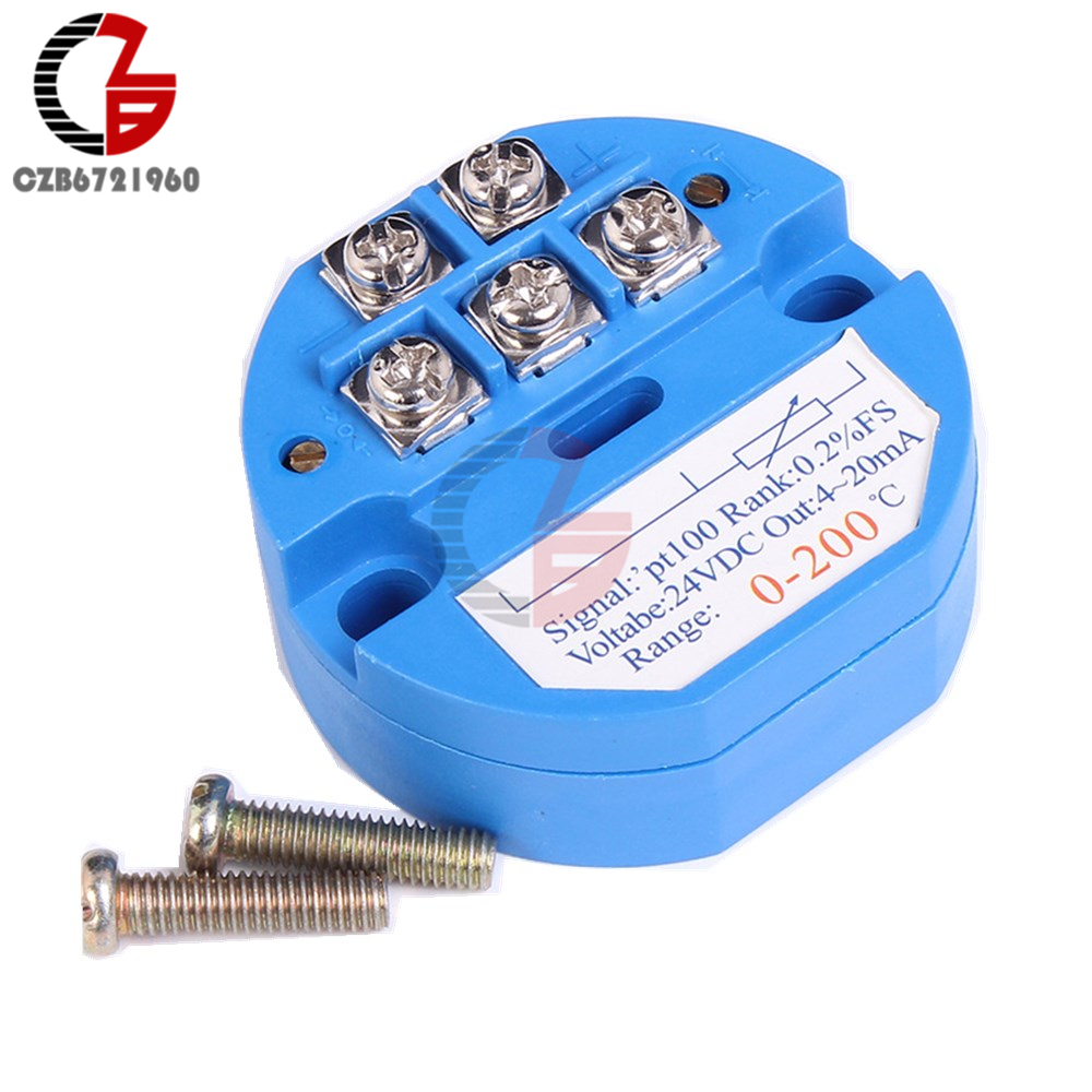 4-20MA 0~400℃ RTD PT100 SBW Temperature Sensor Transmitter Module