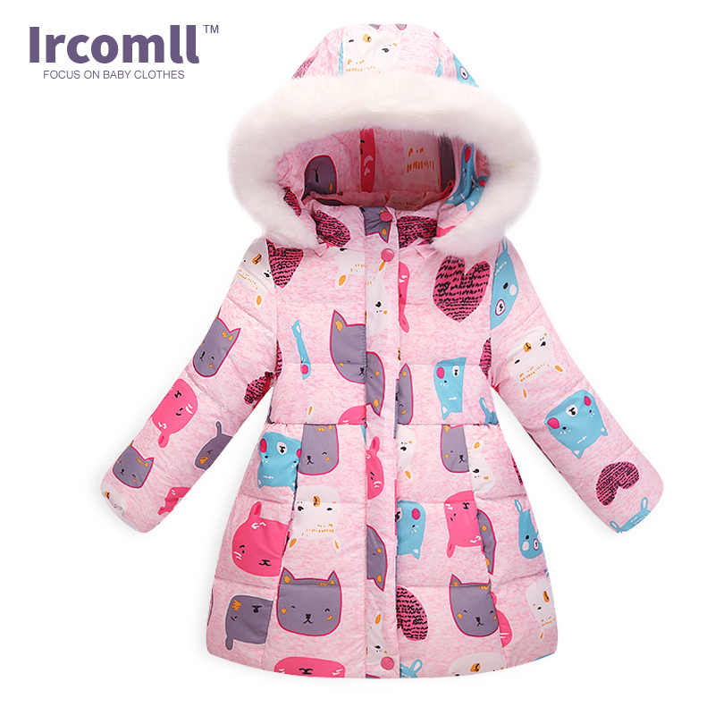 New Winter Children/Kids Down Coat Light Comfortable Keep Warm Girls Outwear Thickening Fur Collar Down Infant Jacket TopОдежда и ак�е��уары<br><br><br>Aliexpress