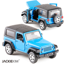 New High Simulation Exquisite Model Toys Model Jeep Wrangler Rubicon Vehicle Model 1:32 Alloy Car Model Collection For Baby Toys(China)