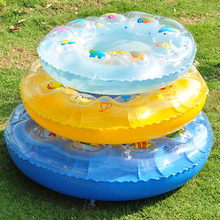 1PC Children Kids cartoon Inflatable swim ring double layer thickened baby swimming protector Armpit Float Laps(China)