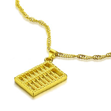 new fashion women golden  necklace.Personality abacus pendant.Necklace  gold  does not change color necklace. Gold jewelry