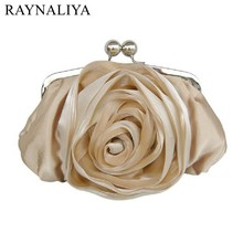 2017 Real Sweet Gentlewomen Chiffon Petal Package Frame Evening Bag Day Clutch Bride Bridesmaid Chain Female Smycy-e0013(China)