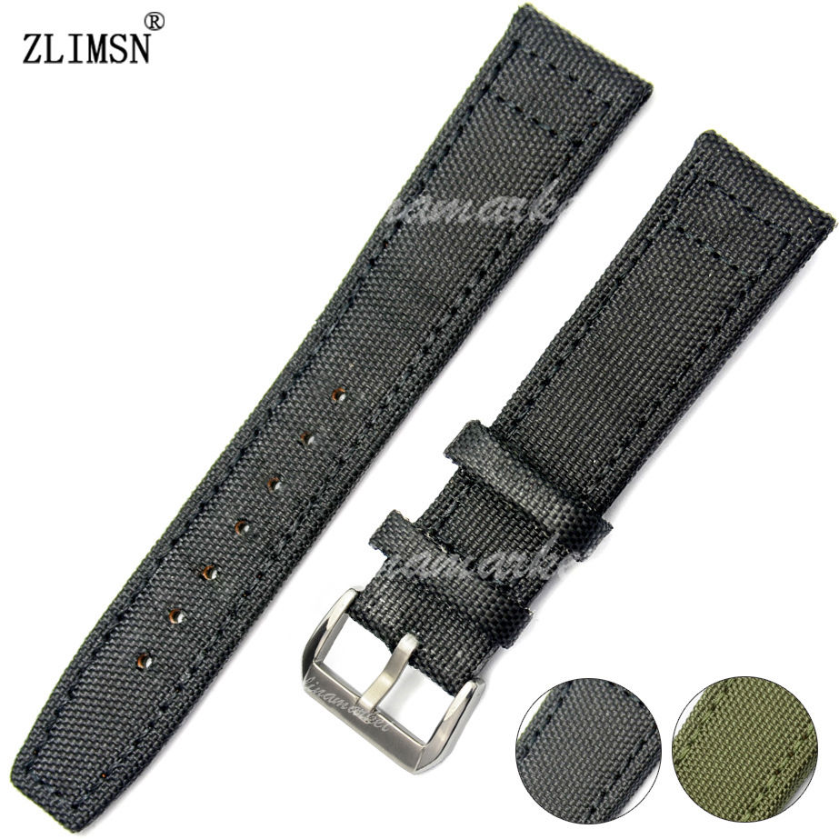 20mm 21mm 22mm NEW HQ Black Nylon leather Watch Band Strap Belt without logo buckle HOT SALE<br><br>Aliexpress