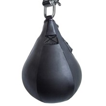 2016 New Leather Vertical Boxing Punching Bag Speedball Ceiling Ball Sport Speed Bag Punch Exercise Fitness Training Ball