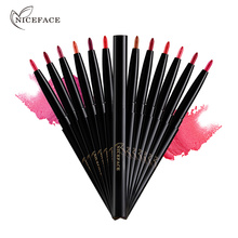 NICEFACE Pro 12 Colors Matte Lip Liner Pencil Sexy Red Lip Waterproof Long Lasting Lipliner Pencils Full Lip Makeup Beauty Tools(China)
