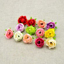5pcs Rose Silk Flower Heads cheap DIY Home Decoration Wedding car Party Bridal bouquet material Artificial Flowers Handmade(China)