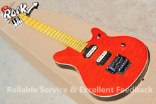 China OEM Musical Instruments Cheap Price Music man Guitar 6 Strings Quilted Maple Top In Stock For Sale(China)