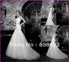 AW086  New Arrival Suzhou Designer  Backless Lace Wedding Dress Patterns