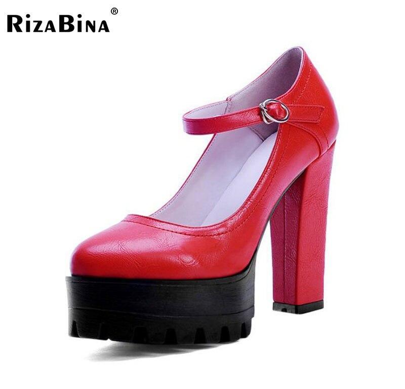size 33-40 P23118 women pointed head high heel pumps fashion platform wedding square heel footwear  heeled sexy heels shoes<br>