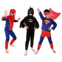 Kid Toddler Boys Girl Superman Batman Spider-Man Cosplay Halloween Masquerade Party Costume Outfit Sets Boy Fancy Superhero 2-7Y