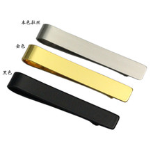 2Pieces/Pack New Design Tie Clips  Materials Stainless Metal Fashion Tie Clips High Quality Crafts Accesories CJ818