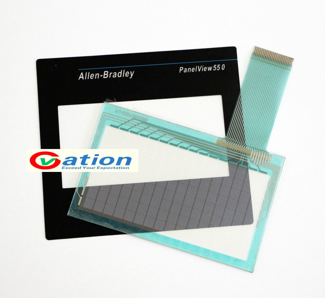 for Allen-Bradley PanelView 550 2711-T5A16L1 2711-T5A15L1 2711-T5A12L1 2711-T5A10L1 Touchscreen + Protective film<br>