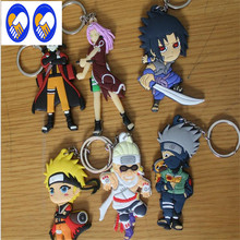 A Toy A Dream Buy 6 get 1 free Naruto anime cartoon figures Kakashi Sasuke action & toy figures pendant Key Chains toy K338(China)