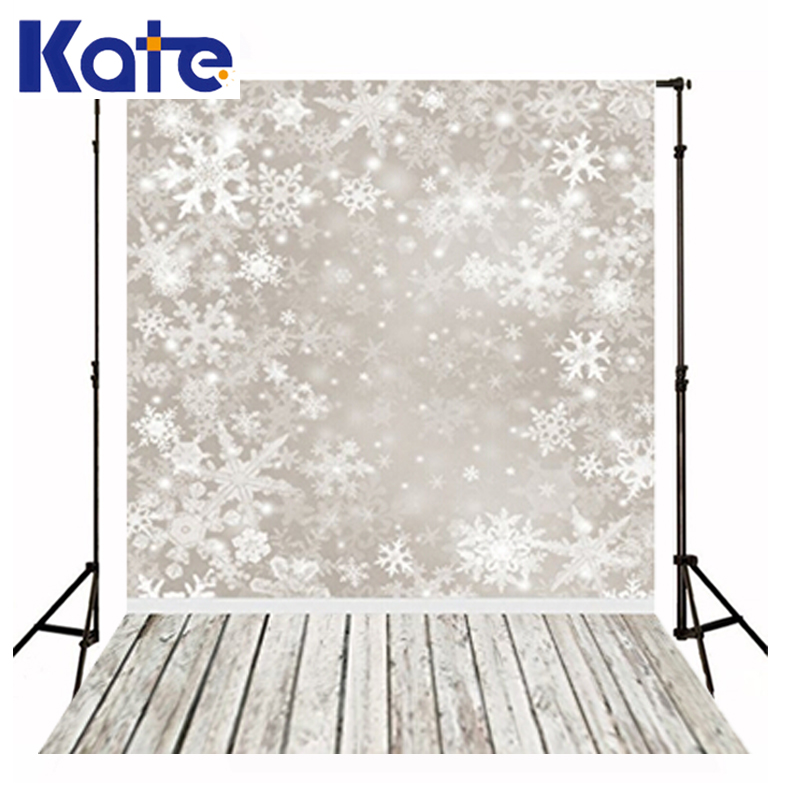 Christmas Backgrounds Snow Wood Floor Photo Winter Newborn Children Photography Baby White Snowflake Backdrops for Shoot Studio<br>