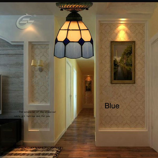 6 Inches Blue Ceiling Lamps Mediterranean Style Living Room Corridor Balcony Lighting YSL-TFC01B,Free Shipping<br><br>Aliexpress