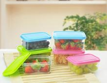10pcs/lot 300ml Microwave freshness storage box fruit crisper food container case vegetable airtight box