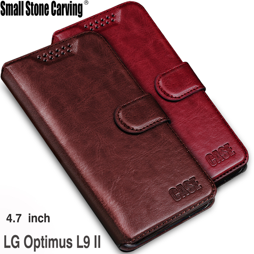 LG Optimus L9 II D605 Luxury Leather Case Flip Wallet Stand Cover LG Optimus L9 II Phone Bag Cases Card Holder