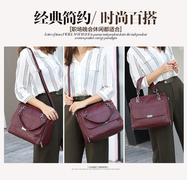 Fashion Pu Leather Handbags Casual Women Luxury Brand Shoulder Bag Designers for Women Ladies Hand Bags Crossbody Messenger Bag