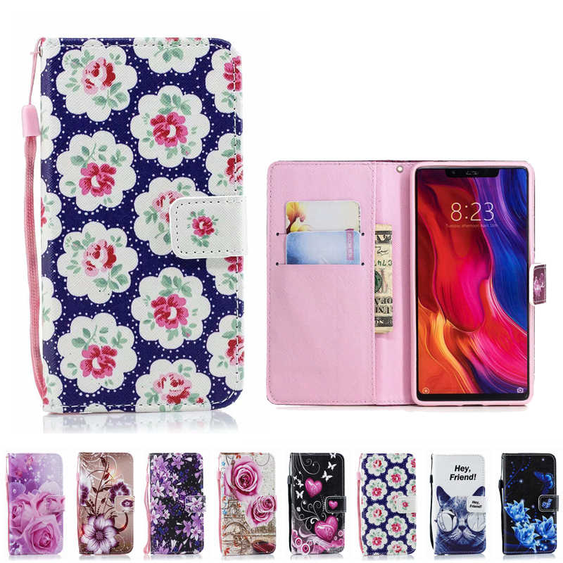 Leather Phone Case Wallet Cover For Xiaomi Mi A2 6X Mi 8 SE Lite S2 Redmi S2 6 Pro A2 Lite 6A Mi F1 Note 6 7 Pro Flip Stand Book