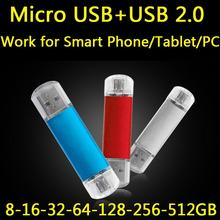 New Style OTG USB 2.0 Pendrive 64GB Flash Drive 512GB 1TB 2TB Pen Drive Memory Stick High Speed Wholesale 8GB-64GB Gift Gifts