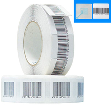 (1000pcs/roll) Barcode security system anti-theft tag RF 4*4cm Barcode Soft Sticker 8.2 MHz EAS Security Anti-theft Label