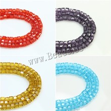 3mm Crystal Beads Faceted Square Beads Cube Loose Beads 100PCS/LOT Making Multi-Color Pick Size For Jewelry Accessories Making