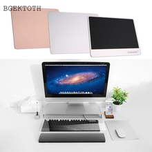 BGEKTOTH Metal Mousepad Aluminum Alloy Gaming Mouse Pad Mat With Non-Slip Rubber Base 220*180*3mm Creative For Office DN001