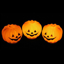 1 PC Carnival Party Lantern LED Pumpkin Night Light Halloween Decoration Props Produce Scary Atmosphere