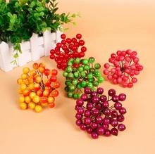 10mm Artificial Flower Heads Stamens berry cherry for Birthday Wedding Party favor home Cards Cakes Floral Decor DIY craft