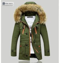 Free shipping 2016 fashion men's down jacket to keep warm in the winter long men down coat jacket