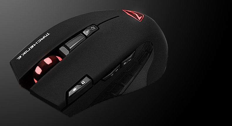 Machenike Scorpion01 Wireless Gaming Mouse Optical Laptop Mouse Gamer Mice 2400DPI Adjustable Healthy Ergonomic Breathing Light