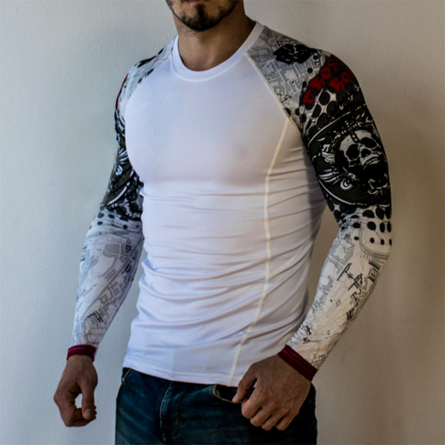 Punisher-Skull-Sport-Running-Shirt-Men-Long-Sleeve-T-Shirt-Compression-Shirt-Men-Fitness-Tshirt-Rashgard