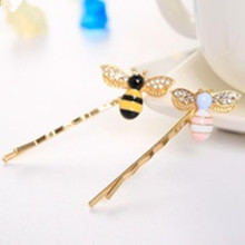 New 1 PC Beautiful Bee Strut Barrette Girls Hair Accessories Hair Clip Beautiful Hairpin Hair Ornaments(China)
